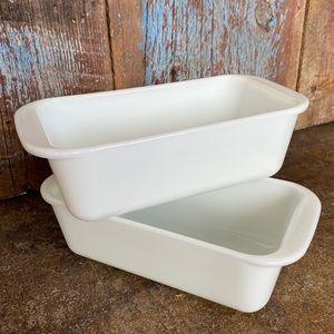 Vintage Pyrex Milk Glass Loaf Pans
